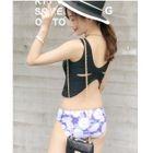 Set: Tankini + Printed Swim Skirt 1596