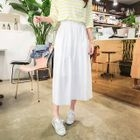 Band-Waisted Long Skirt 1596