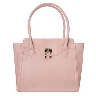 Padlock Accent Tote Dark Pink - One Size 1037629909