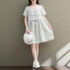 Frill Trim Short Sleeve Dress 1596