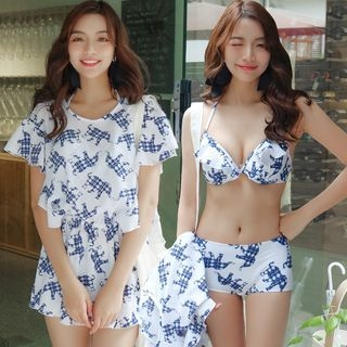 Set: Printed Bikini + Cover 1057841526
