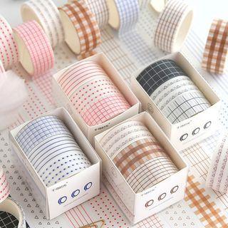 Set of 3: Printed Masking Tape ( Various Designs )