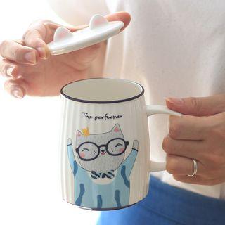 Set: Cartoon Cup + Lid + Spoon 1065187986