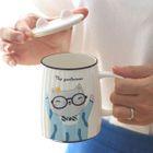 Set: Cartoon Cup + Lid + Spoon 1596