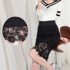 Lace Panel Skirt 1596