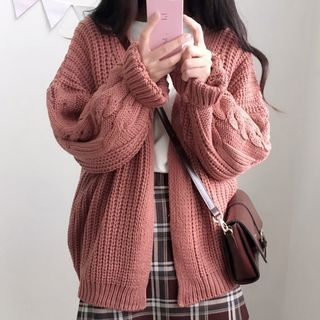 Ribbed Long Cardigan 1063389109
