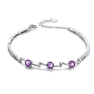 Purple cubic zirconia bracelet