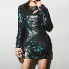 Sequined Sheath Dress 1596