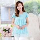 Maternity Short-Sleeve Lace T-Shirt 1596