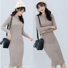 Ribbed Midi Knit Dress 1596