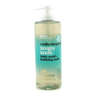 Picture of Bliss - Vanilla + Bergamont Soapy Suds (Body Wash + Bubbling Bath) 473.2ml/16oz (Bliss, Bath)