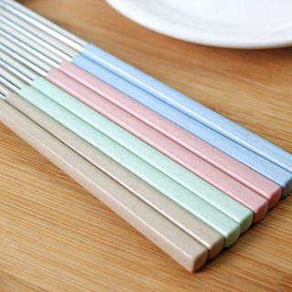Stainless Steel Chopsticks Set (8 Pairs) 1060548905