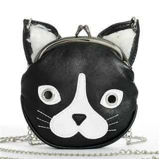 Buy Morn Creations Cat Purse with Chain Black – One Size 1011631210