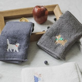 Image of Animal Embroidered Face Towel / Bath Towel