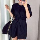 Tie-waist Short-Sleeve Dress 1596