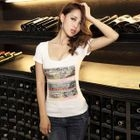 Short-Sleeve Sequined T-Shirt 1596