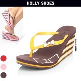 Buy Holly Shoes Wedge Thong Sandals 1022850992