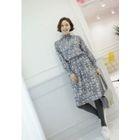 Set: Sleeveless Knit Dress + Floral Print Maxi Dress 1596