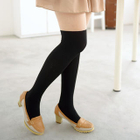 Two-Tone Tights Black and Nude - One Size 1596