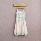 Sleeveless Lace-Panel Dress 1596