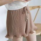 Pleated Drawstring Shorts 1596