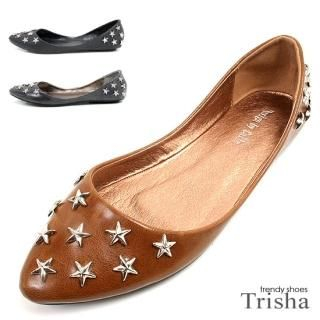 Picture of Trisha Studded Star Flats 1021294801 (Flat Shoes, Trisha Shoes, Korea Shoes, Womens Shoes, Womens Flat Shoes)