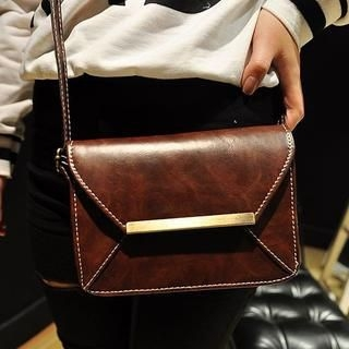 Faux-Leather Cross Bag