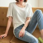 Short-Sleeve Ribbed Top 1596
