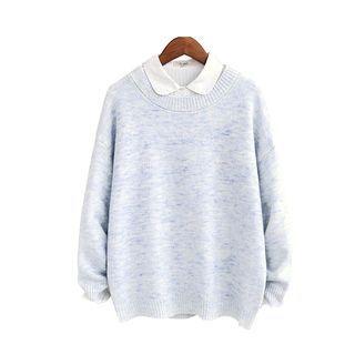 Drop-shoulder Knit Top 1057085392