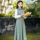 Sleeveless Plain A-Line Maxi Dress 1596