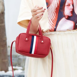 Image of Contrast Stripe Crossbody Satchel