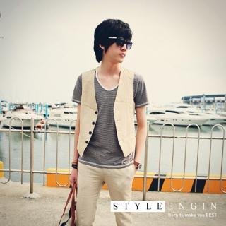 Buy Style Engine Linen Vest 1022737888