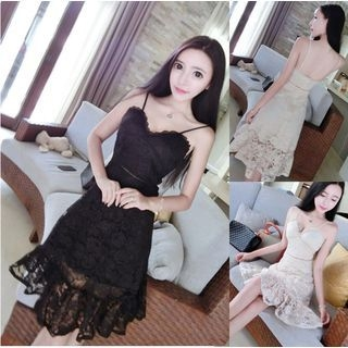 Spaghetti Strap Lace Dress 1060681675