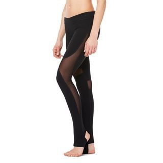 Mesh Insert Stirrup Quick Dry Leggings 1056874260