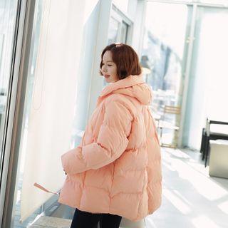Hooded Pastel Padding Jacket