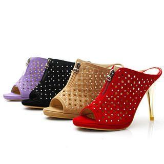 Buy KAWO Studded Eyelet High-Heel Sandals 1022788689