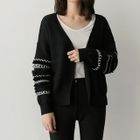 Patterned Open-Front Cardigan 1596