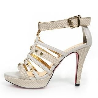 Buy REDOPIN Ankle-Strap Platform Sandals 1022566246