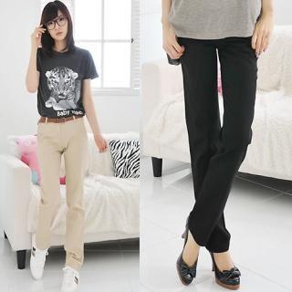 Buy Miss Hong Set: Slim-Fit Pants + Belt 1022293264