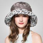 Leopard-Print Silk Bucket Hat 1596
