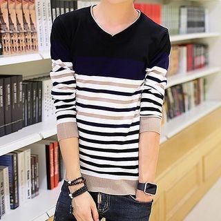 Striped Long-Sleeve T-Shirt 1057682493
