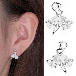 Rhinestone | Earring | Silver | Dance | Stud | Back | Size | One