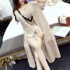 Set: Knit Camisole Top + Slit Long Cardigan 1596