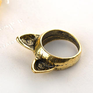 Cat Ears Ring Copper - One Size