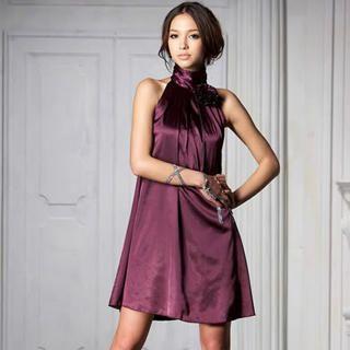"Buy Joanne Kitten Sleeveless ""Corsage"" Satin Party Dress 1022567403"