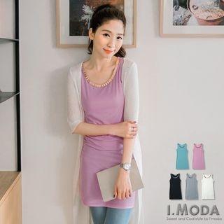 Sleeveless Metal Neckline Dress 1052804143