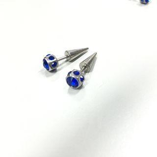 Titanium Steel Rhinestone Single Earring