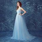 Sleeveless Applique Evening Dress 1596