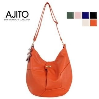 Picture of AJITO Faux-Leather Hobo 1022399663 (AJITO, Hobo Bags, Korea Bags, Womens Bags, Womens Hobo Bags)