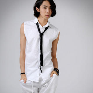 Buy deepstyle Sleeveless Shirt with Tie 1023021900